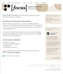 Focus home page
